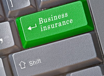 image of keyboard key labeled with business insurance