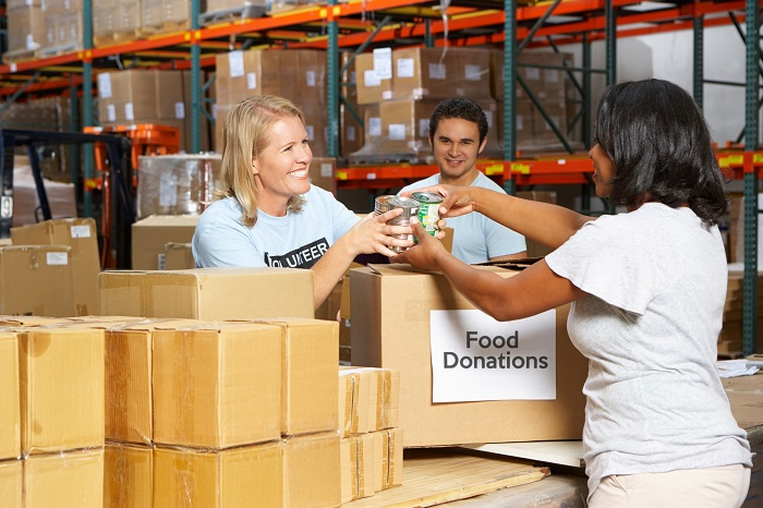 Workers at Food Bank