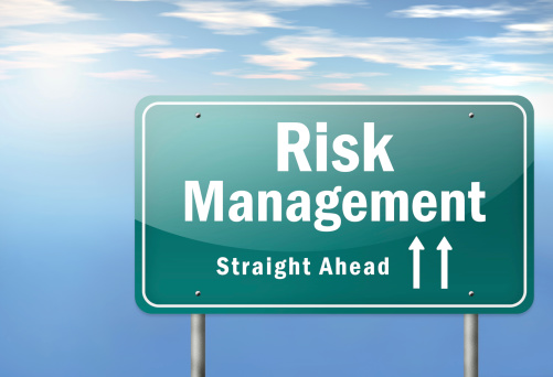 Risk Management Straight Ahead Sign